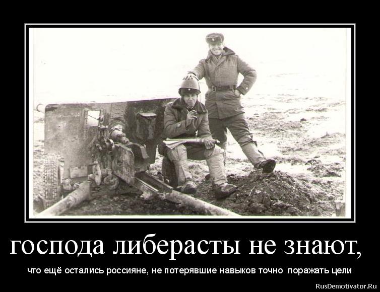 господа либерасты не знают, - что ещё остались россияне, не потерявшие навыков точно поражать цели