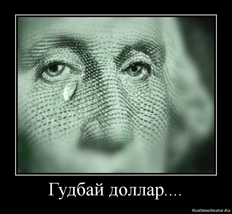 Гудбай доллар....