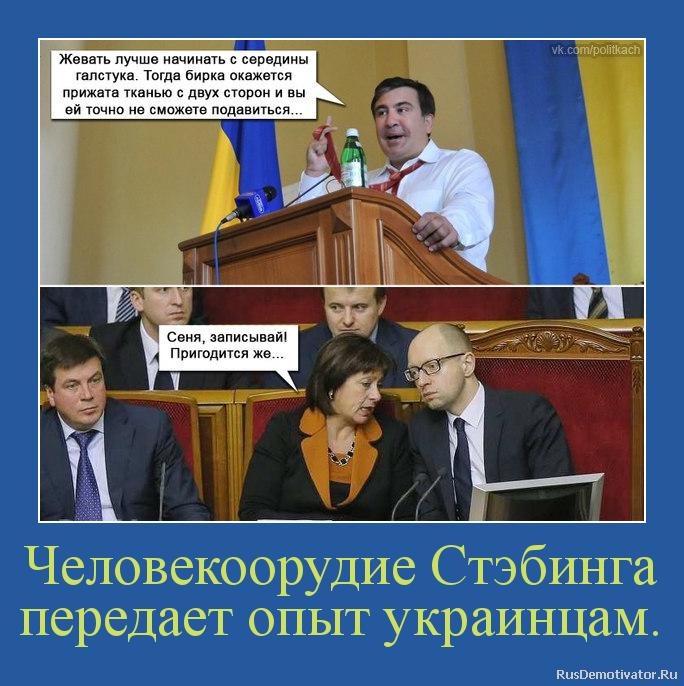 Человекоорудие Стэбинга передает опыт украинцам.