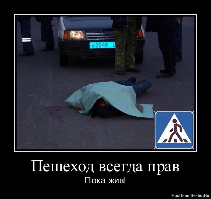 Пешеход всегда прав - Пока жив!