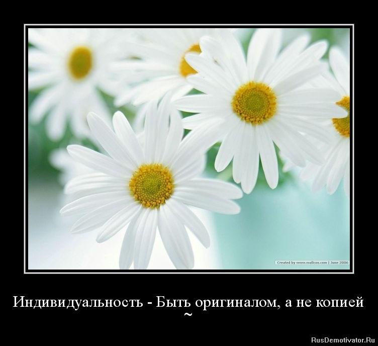 Индивидуальность - Быть оригиналом, а не копией - ~