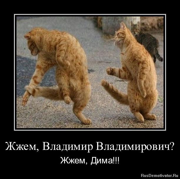 Жжем, Владимир Владимирович? - Жжем, Дима!!!