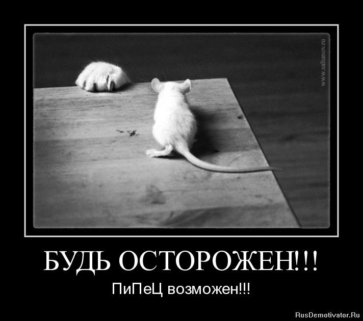 БУДЬ ОСТОРОЖЕН!!! - ПиПеЦ возможен!!!