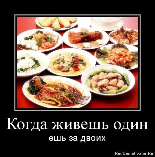 Когда живешь один - ешь за двоих