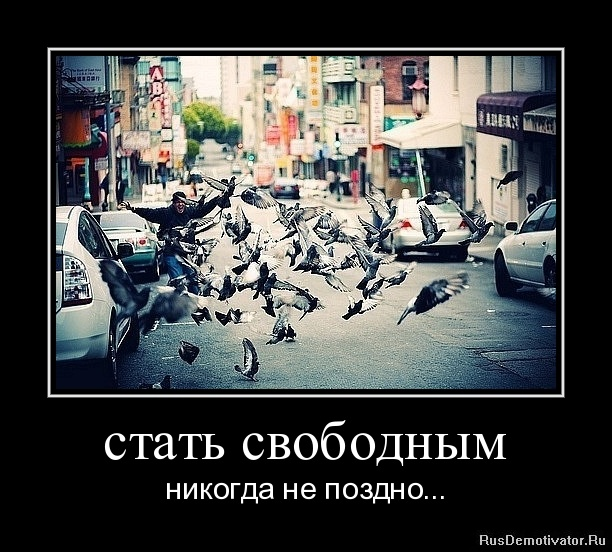 стать свободным - никогда не поздно...