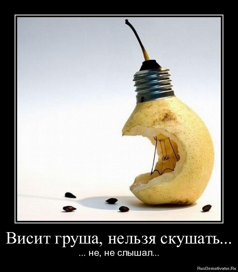 Висит груша, нельзя скушать... - ... не, не слышал...