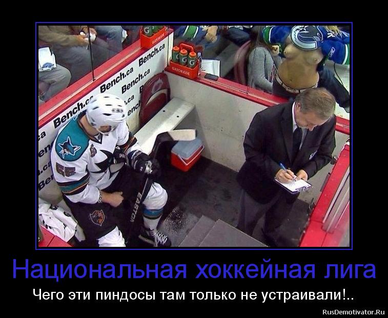 Национальная хоккейная лига - Чего эти пиндосы там только не устраивали!..