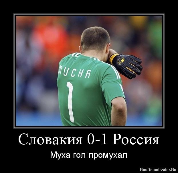 Словакия 0-1 Россия - Муха гол промухал