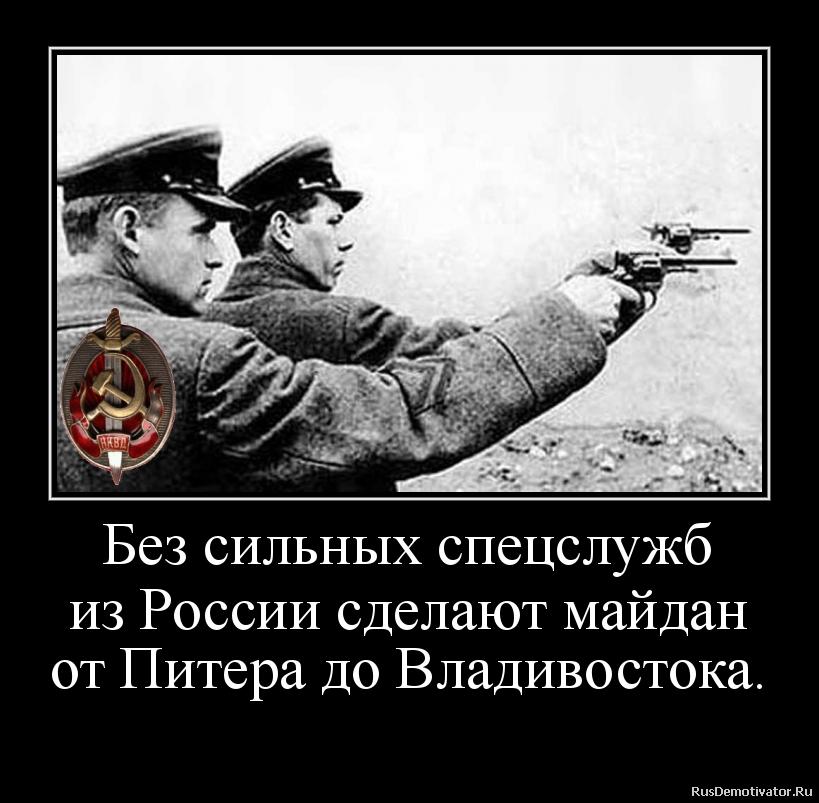 Без сильных спецслужб из России сделают майдан от Питера до Владивостока.