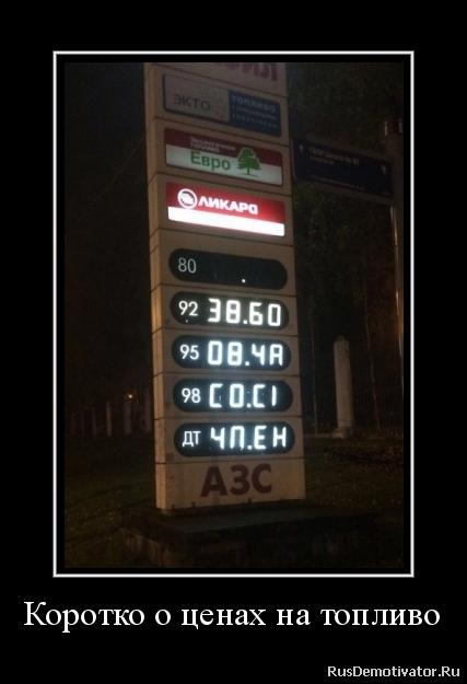 Коротко о ценах на топливо