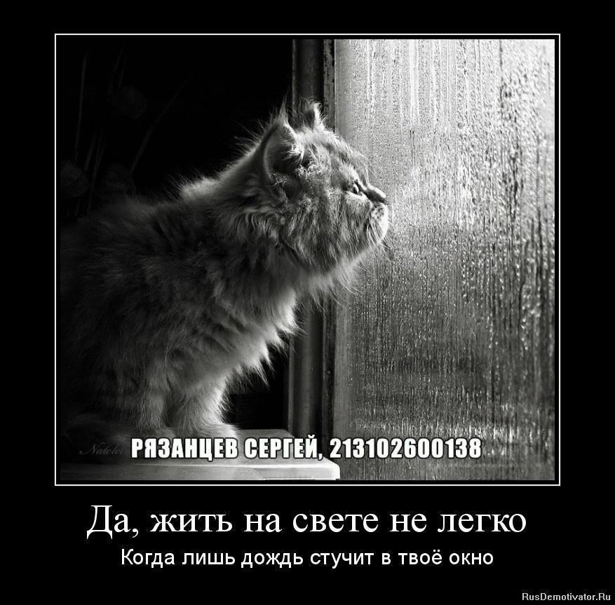 Да, жить на свете не легко - Когда лишь дождь стучит в твоё окно