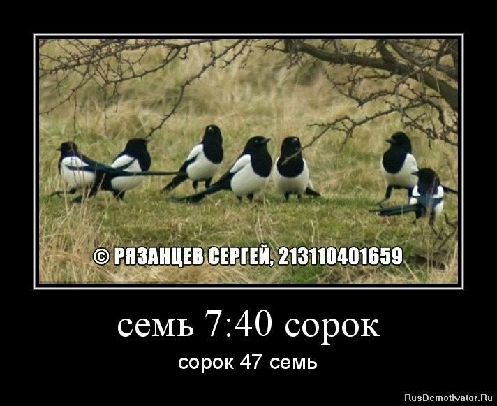 семь 7:40 сорок - сорок 47 семь