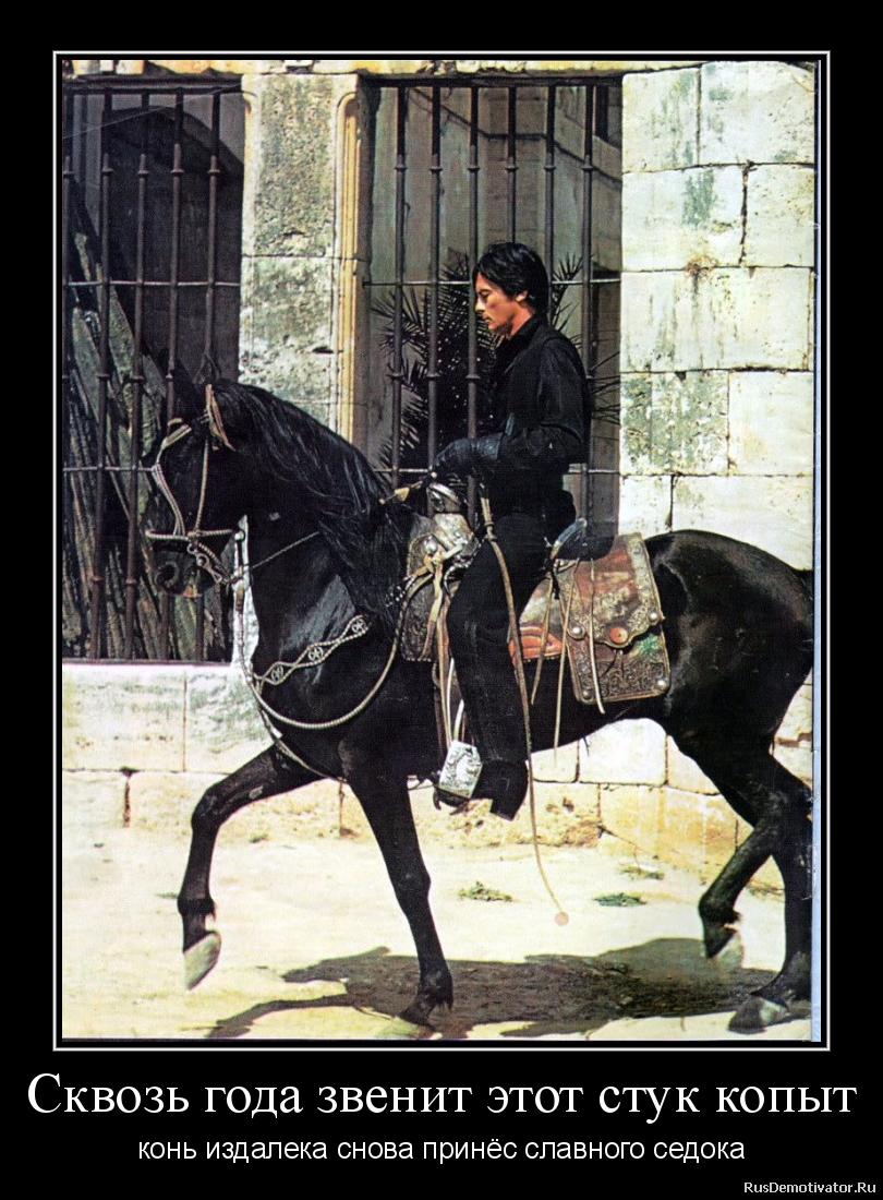 Сквозь года звенит этот стук копыт - конь издалека снова принёс славного седока