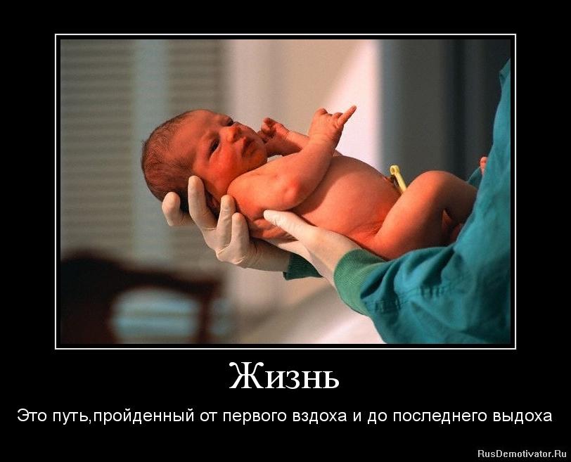 Жизнь - Это путь,пройденный от первого вздоха и до последнего выдоха