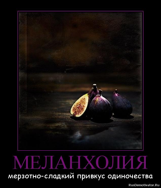 МЕЛАНХОЛИЯ - мерзотно-сладкий привкус одиночества