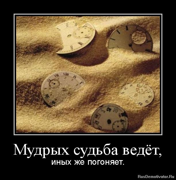 Мудрых судьба ведёт, - иных же погоняет.