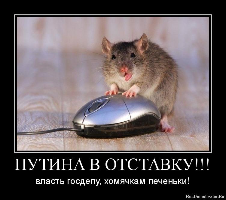 ПУТИНА В ОТСТАВКУ!!! - власть госдепу, хомячкам печеньки!