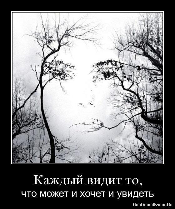 Каждый видит то, - что может и хочет и увидеть