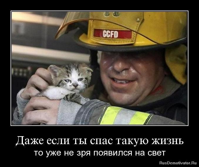Даже если ты спас такую жизнь - то уже не зря появился на свет