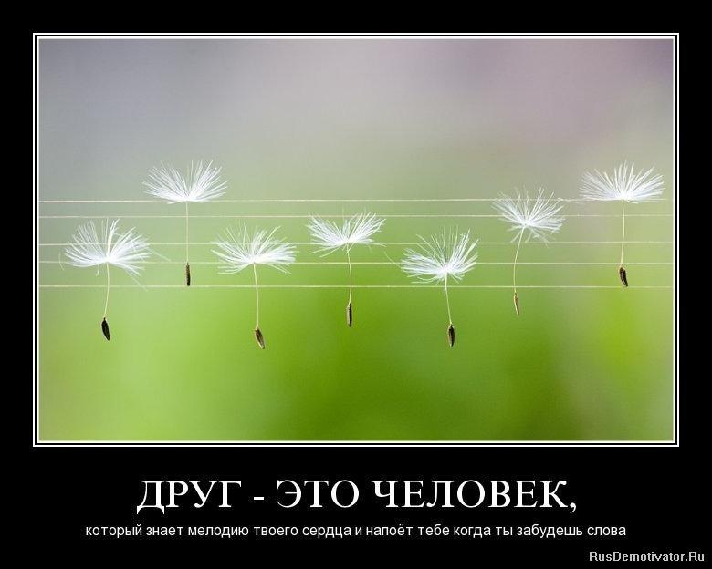 ДРУГ - ЭТО ЧЕЛОВЕК, - который знает мелодию твоего сердца и напоёт тебе когда ты забудешь слова