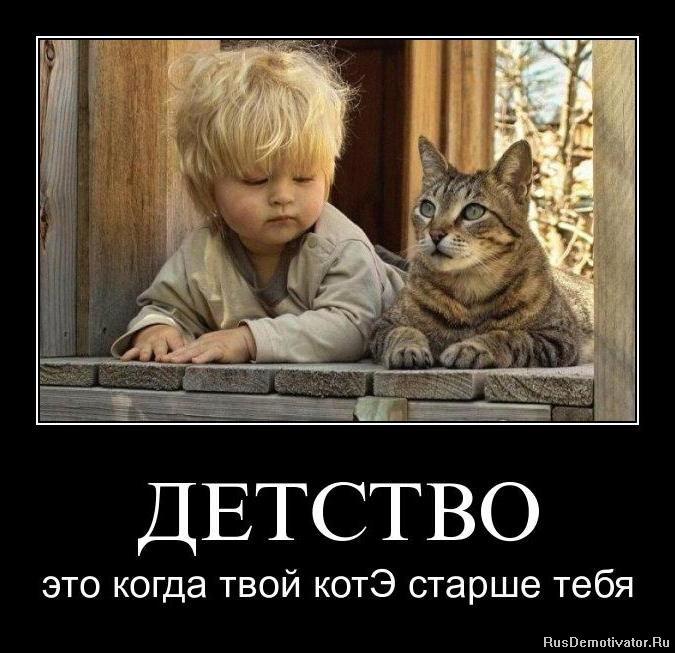 ДЕТСТВО - это когда твой котЭ старше тебя