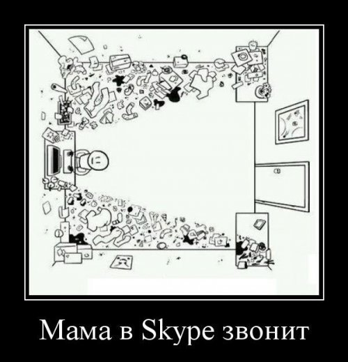 Мама в Skype звонит