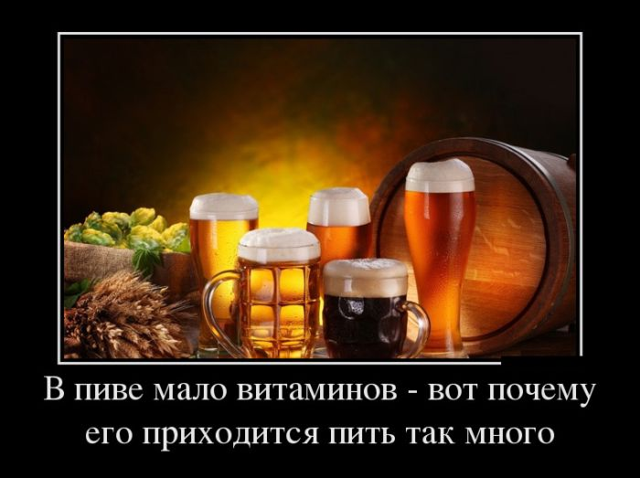В пиве мало витаминов - вот почему его надо пить так много